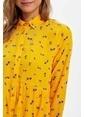 DeFacto Desenli Gömlek Tunik Sarı